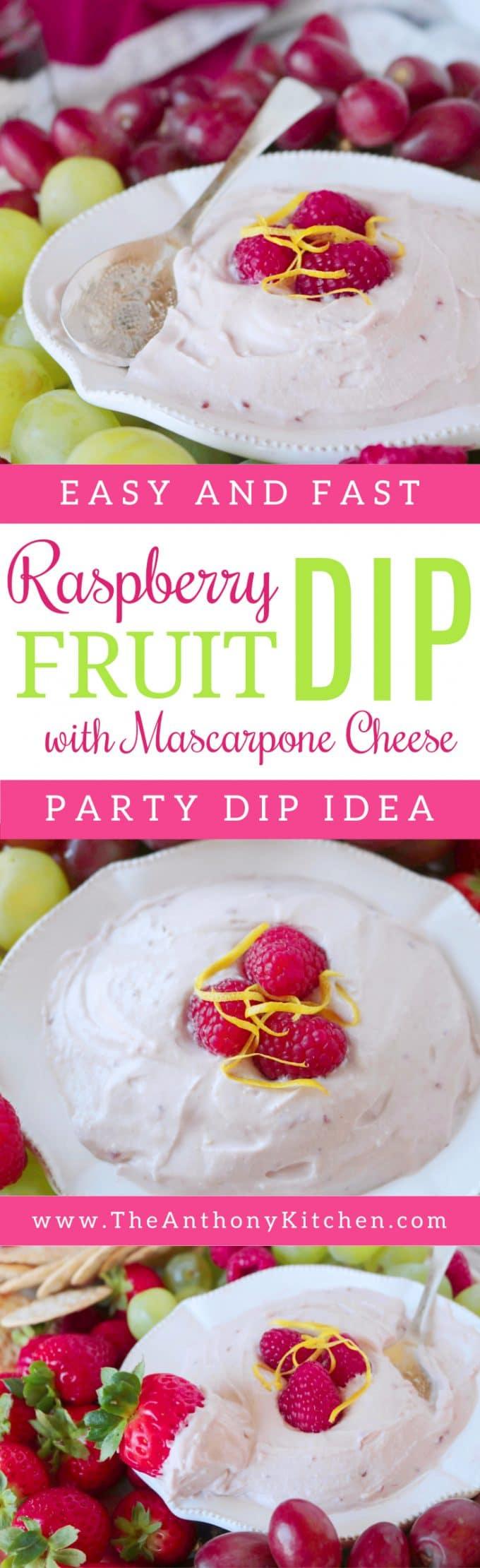 RASPBERRY FRUIT DIP