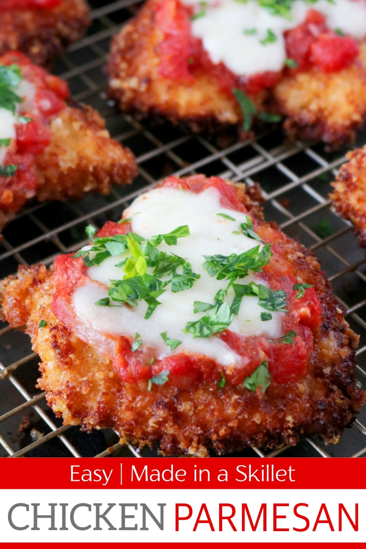 Homemade chicken parmesan recipe featuring a crust made of panko bread crumbs mixed withParmesan cheese. Topped with marinara and fresh Mozzarella. #easychickenparmesan #chickenparmesan #bestchickenparmesan #chickenrecipes #chickendinneridea #chicken #comfortfood #theanthonykitchen #italianfood #italianrecipes #dinnerideas #dinnerrecipes