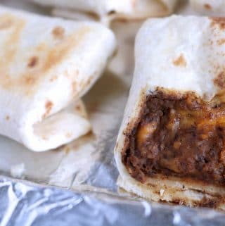 black bean and cheese burrito