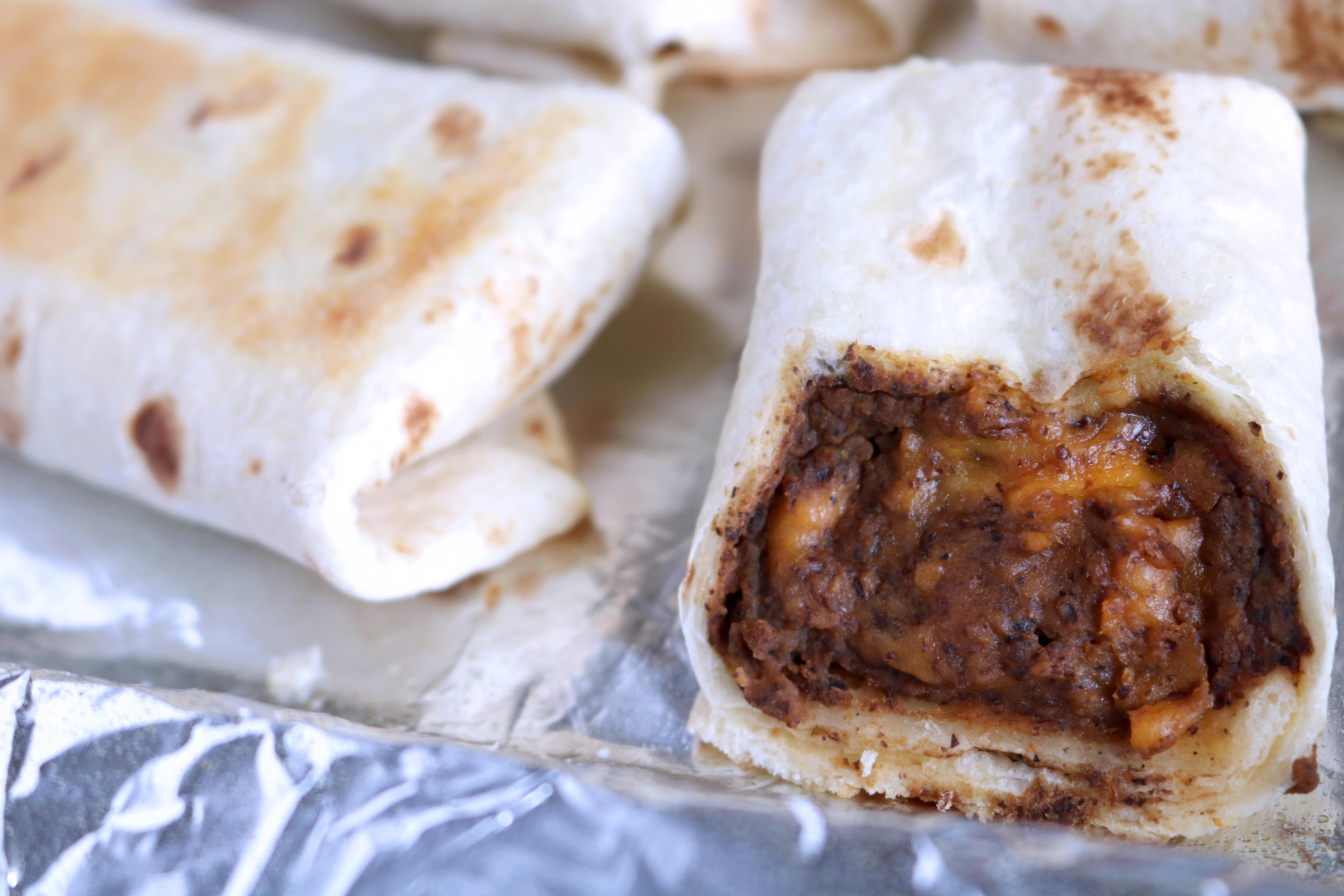 Bean And Cheese Burrito With Black Beans The Anthony Kitchen