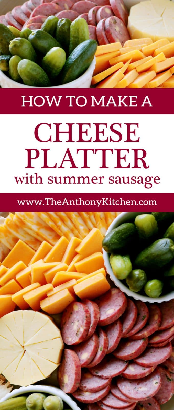 Pinterest image of HOW TO MAKE A CHEESE PLATTER