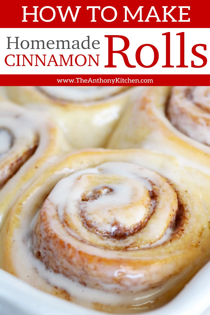 How to make the best homemade cinnamon rolls: A step-by-step tutorial (with pictures!) showing you everything you need to know for perfect made-from-scratch cinnamon rolls. #cinnamonrolls #homemadecinnamonrolls #breakfastideas #sweetbreakfastideas #breakfasttreats #brunchrecipes #brunchideas #bestcinnamonrolls #comfortfood