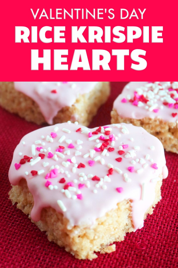 Rice Krispie Hearts for Valentine's Day
