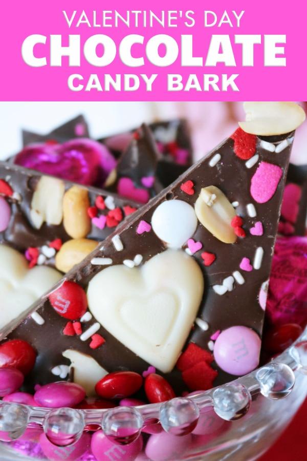 PInterest image- Valentine's Day Bark