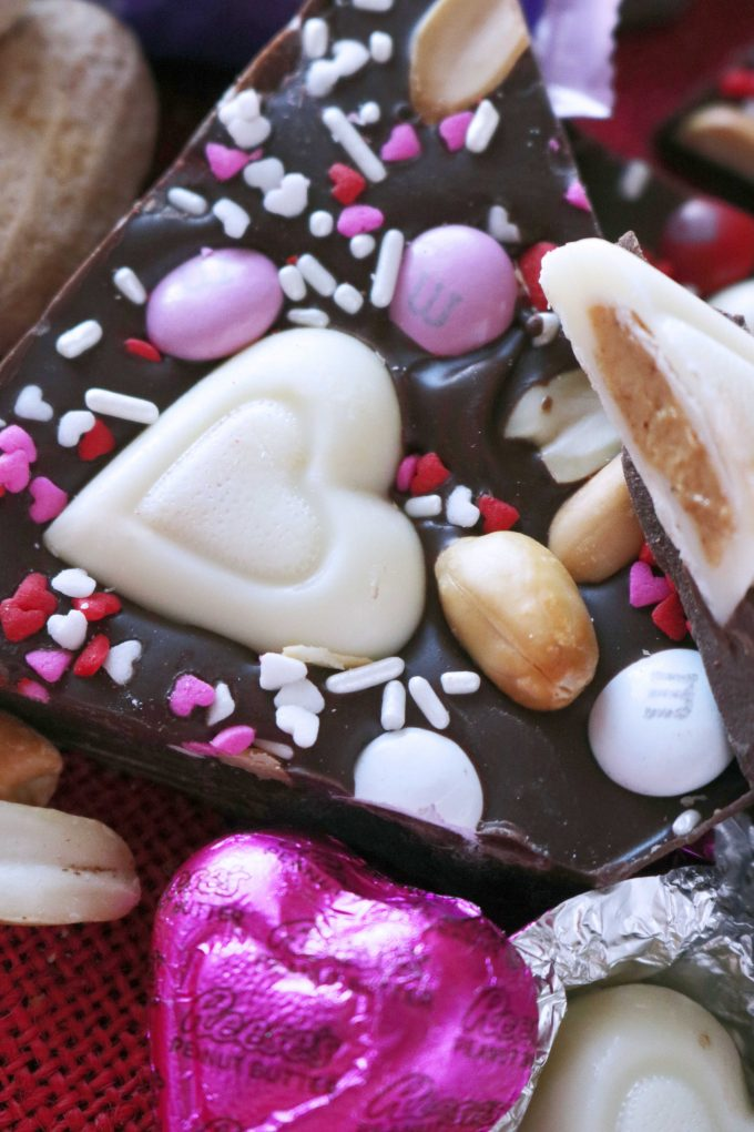 Easy Chocolate Bark Recipe for Valentines Day