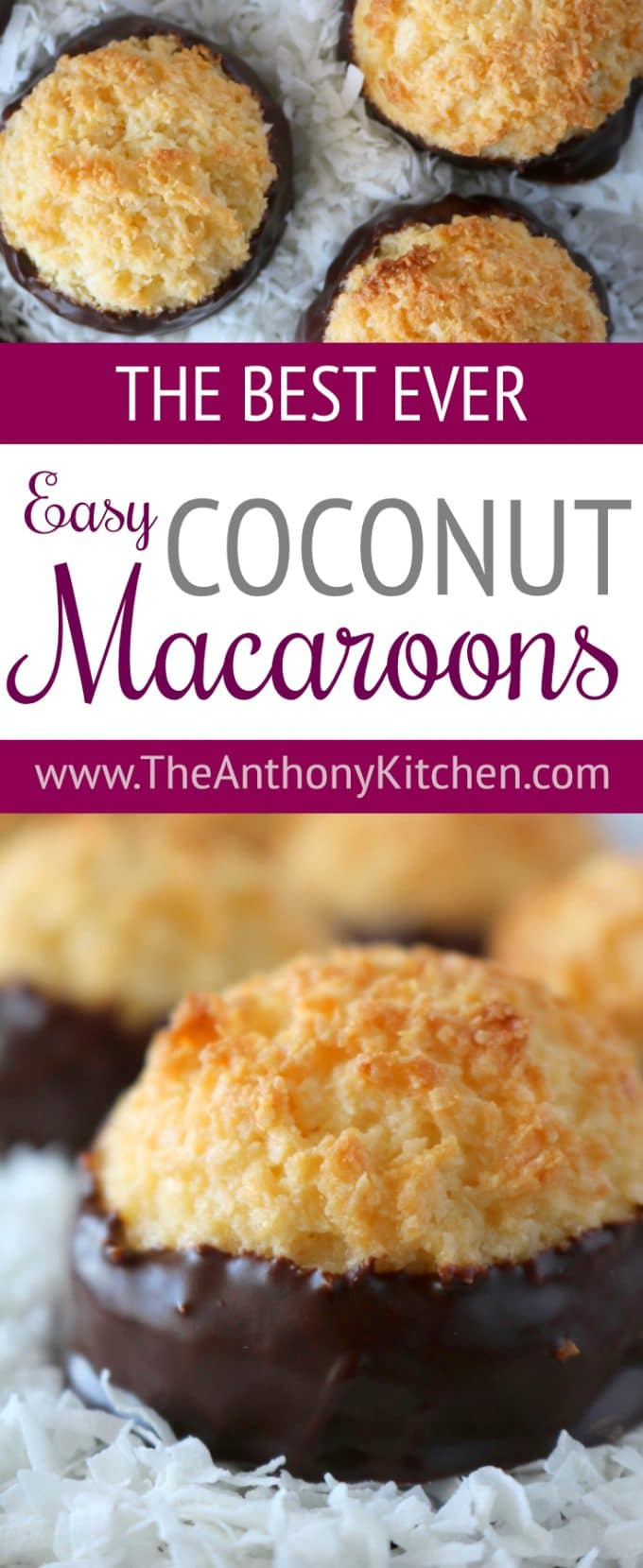 Easy Coconut Macaroon Recipe made with condensed milk