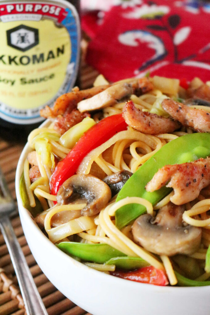 Easy Chicken Lo Mein with Vegetables