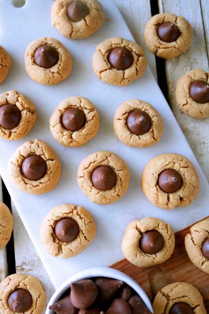 Thumbprint Hershey Kiss Cookies