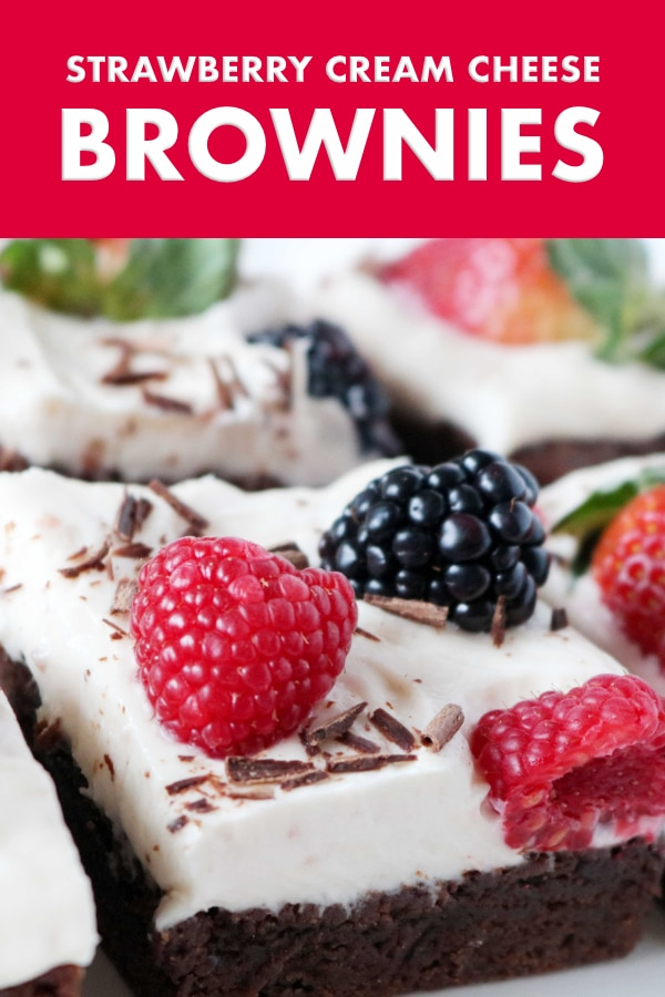 PInterest image for Brownies with Cream Cheese Frosting