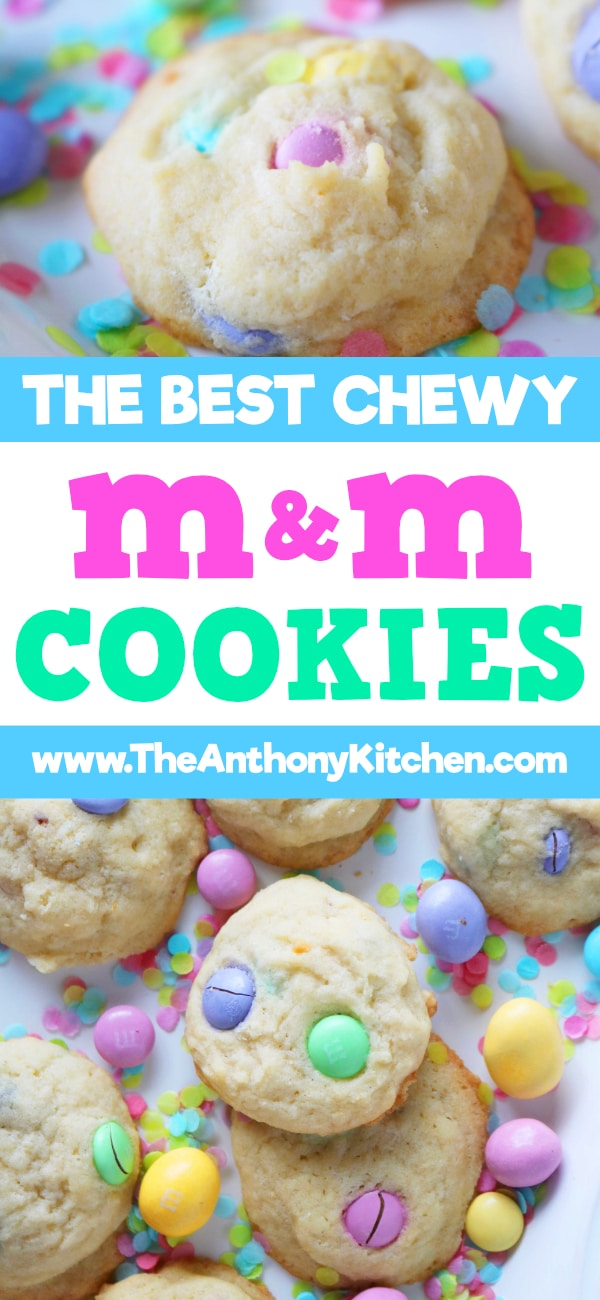 BEST CHEWY M&M COOKIES
