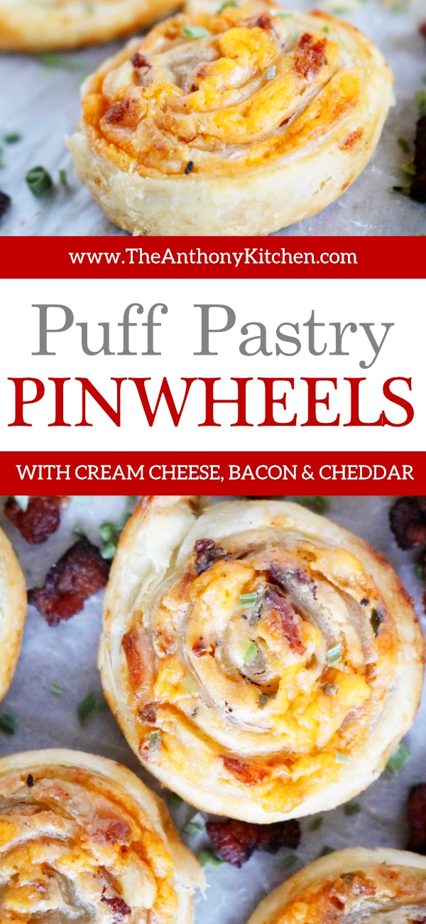 Puff Pastry Pinwheels with Cream Cheese and Bacon