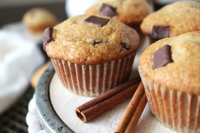 bakery style chocolate chunk muffins