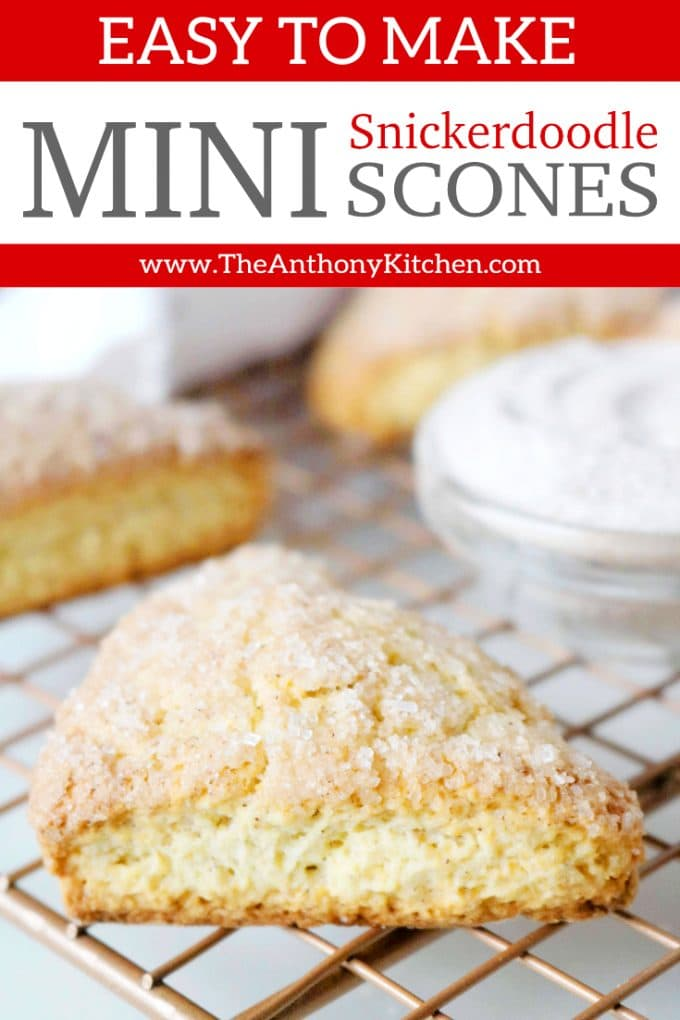 Easy Snickerdoodle Scones
