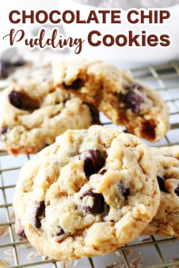 Chocolate Chip Cookies with Pudding and Oats