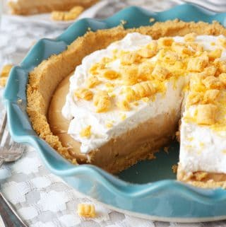 Cap'n Crunch No Bake Peanut Butter Pie