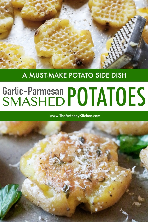 Smashed Potatoes Recipe with Garlic and Parmesan