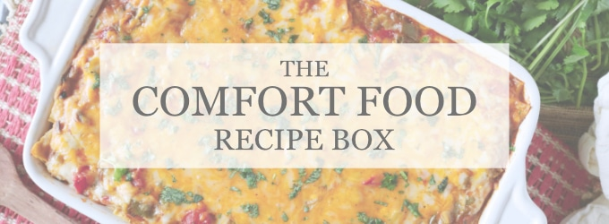 COMFORT FOOD DINNER IDEAS