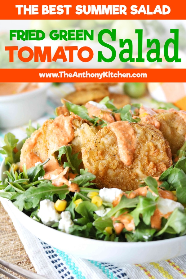 Summer Salad Fried Green Tomatoes