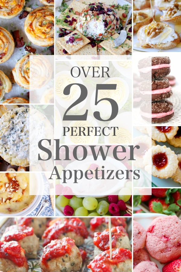 list of shower appetizers