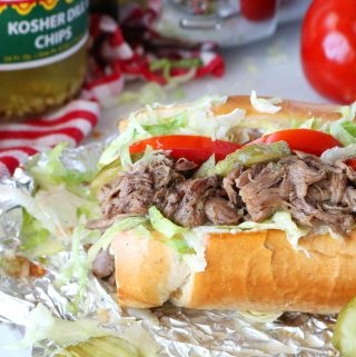 Hot Roast Beef Sandwich | Po' Boy Style