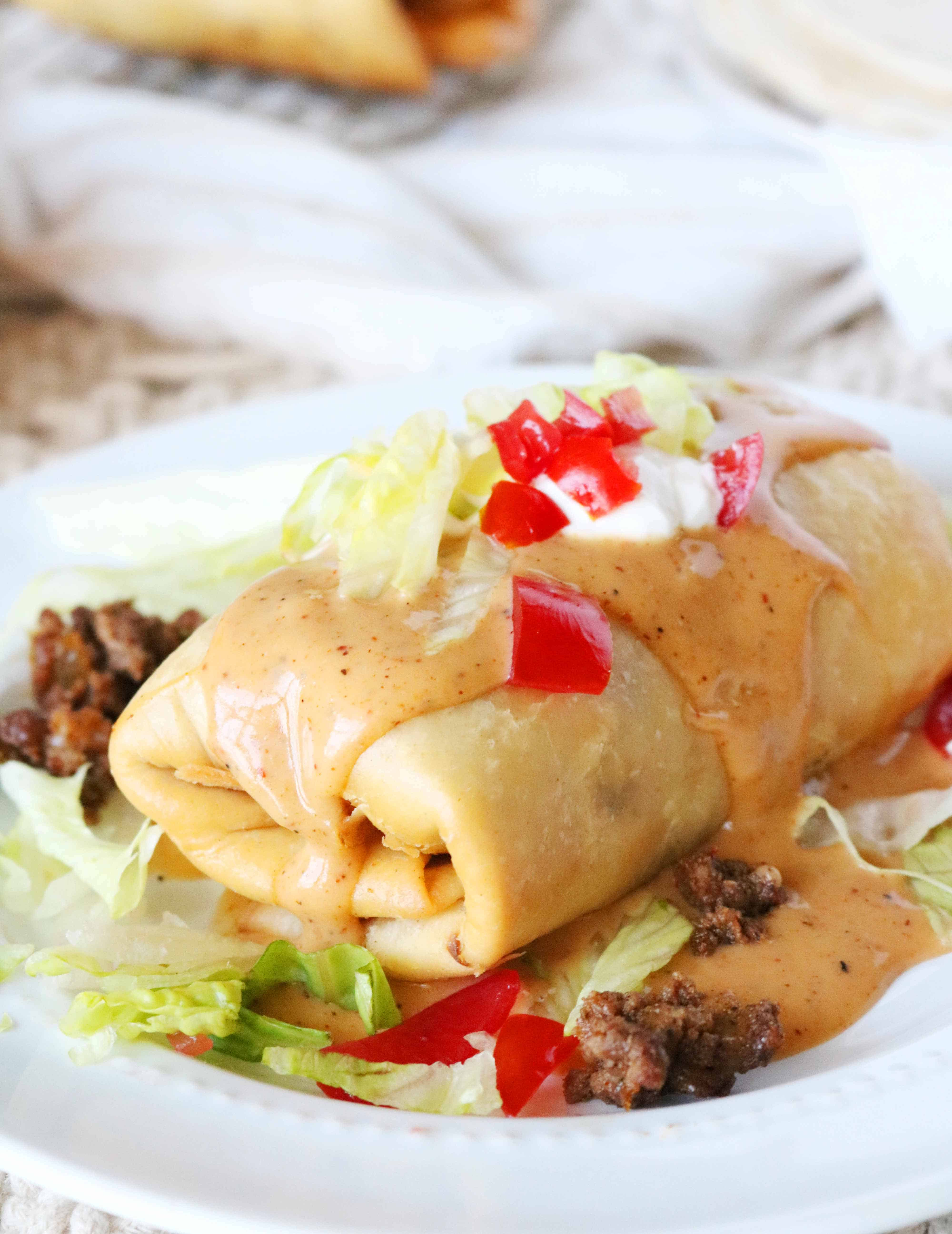 Homemade Beef Chimichangas The Anthony Kitchen