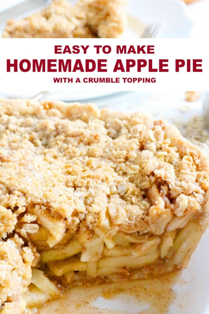 Easy Homemade Apple Pie with Crumble Topping