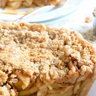 Easy Apple Crisp Pie with Oats