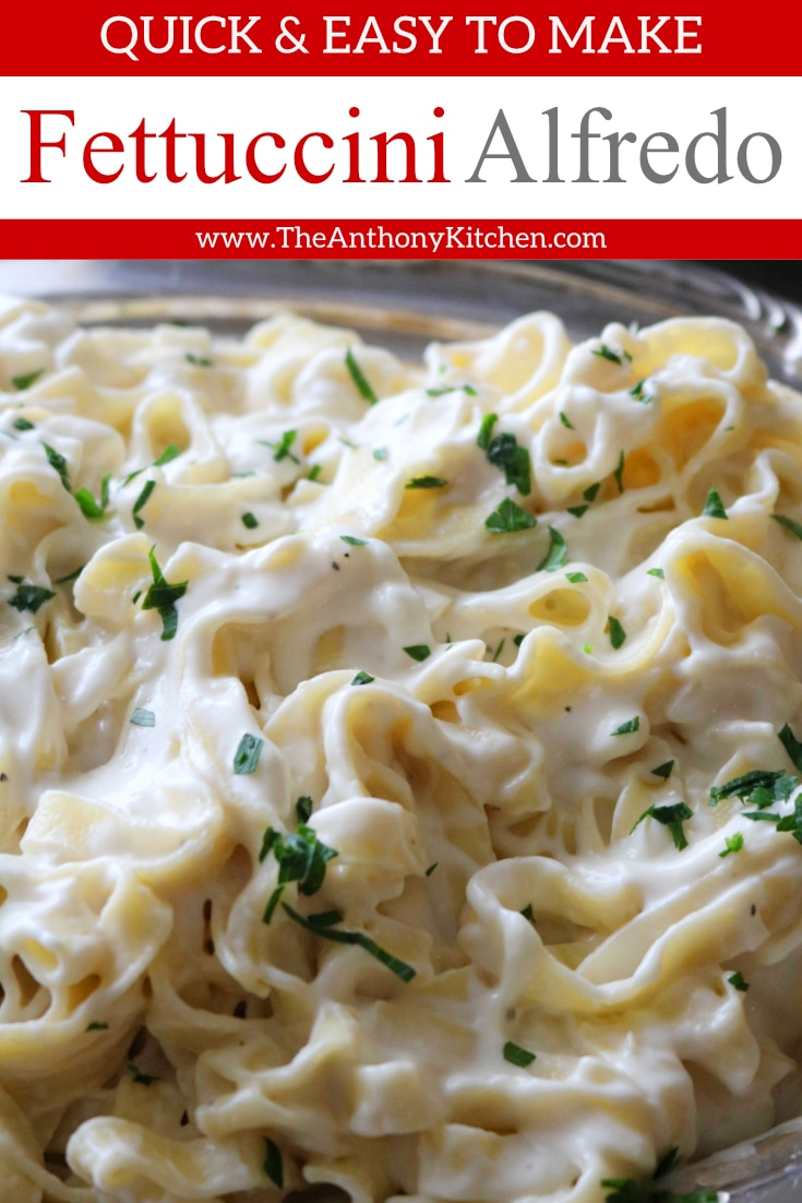 A recipe for simple, homemade fettuccini alfredo sauce made with cream and fresh Parmesan. A comforting quick-fix dinner idea. #alfredosauce #homemadealfredo #pastarecipes #pastadinner #easypastarecipes #dinnerideas #dinnerrecipes #comfortfood