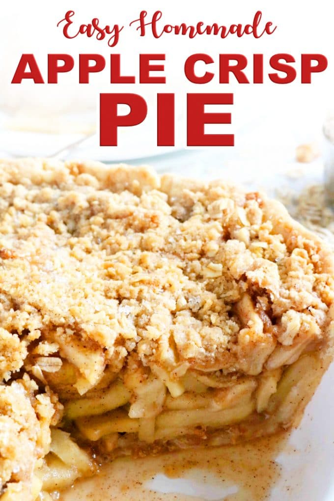 Easy Homemade Apple Crisp Pie with Oats