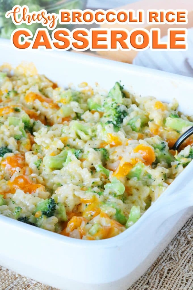 Easy, Cheese, Southern Broccoli Rice Casserole