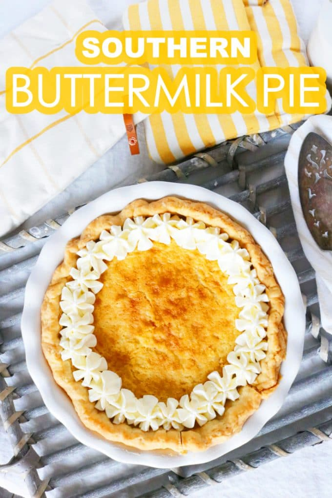 Easy Southern Buttermilk Pie | Thanksgiving Recipe