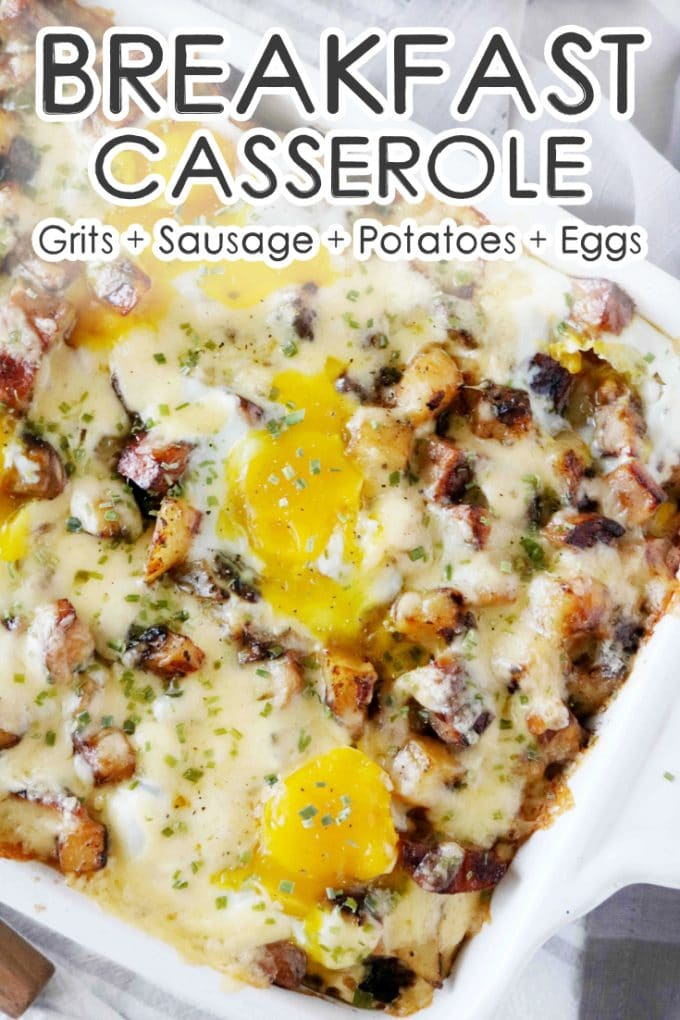 Southern Breakfast Casserole with Sausage and Eggs