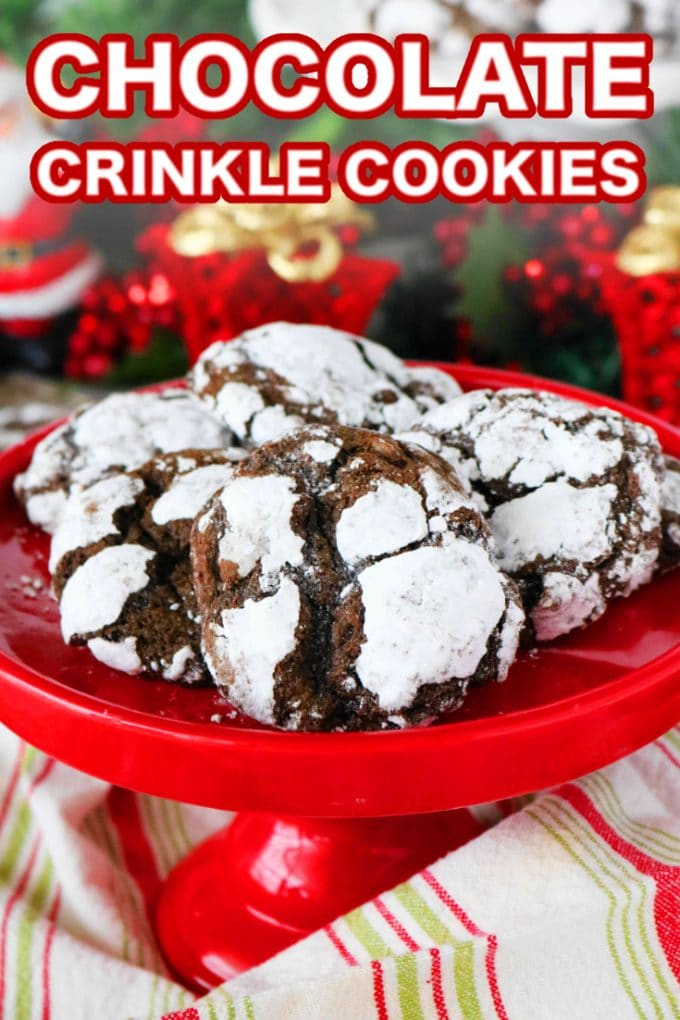 The Best Chewy Chocolate Crackle Cookies