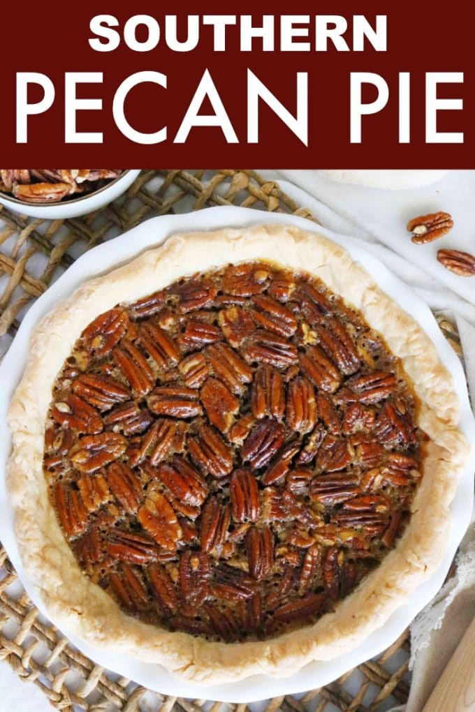 Easy Pecan Pie Recipe Made with Brown Sugar and Dark Corn | Thanksgiving Recipe