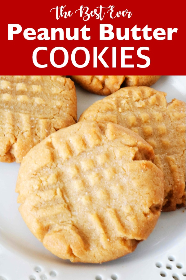 Best Ever Soft and Chewy Peanut Butter Cookies