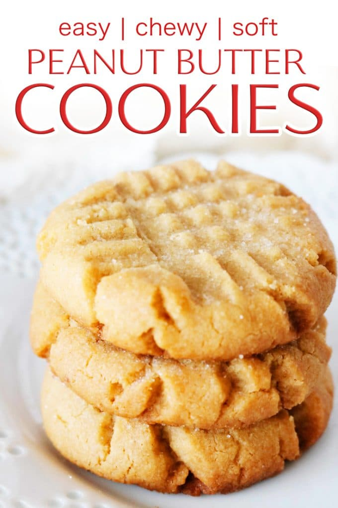 Soft and Chewy Peanut Butter Cookies | Easy to Make
