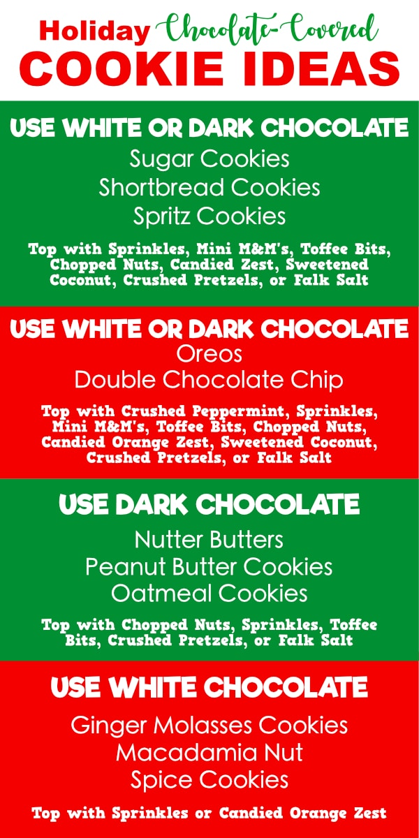Chocolate Dipped Christmas Cookie Ideas