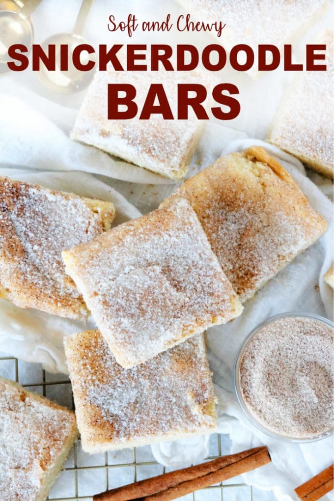 Soft and Chewy Snickerdoodle Bars