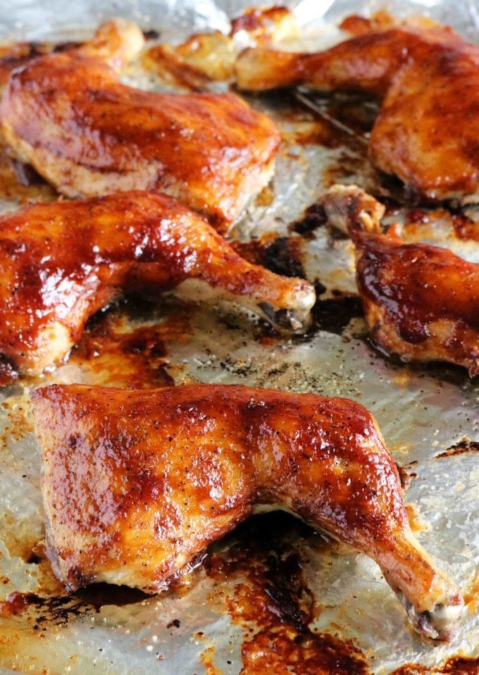 BBQ Baked Chicken Quarters