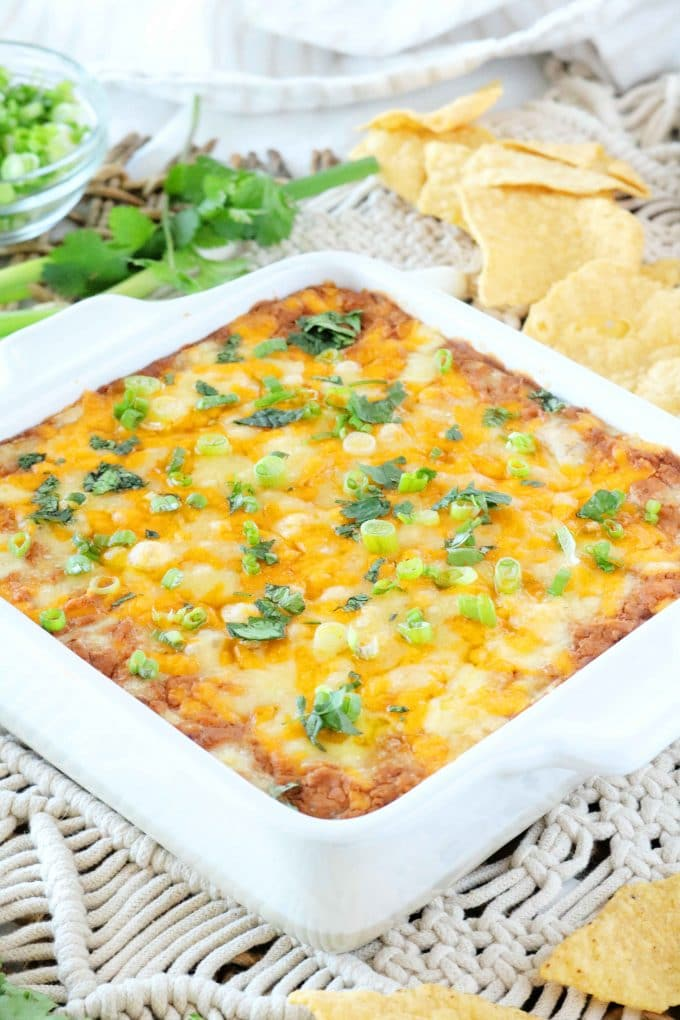 Refried Bean Dip with Cream Cheese