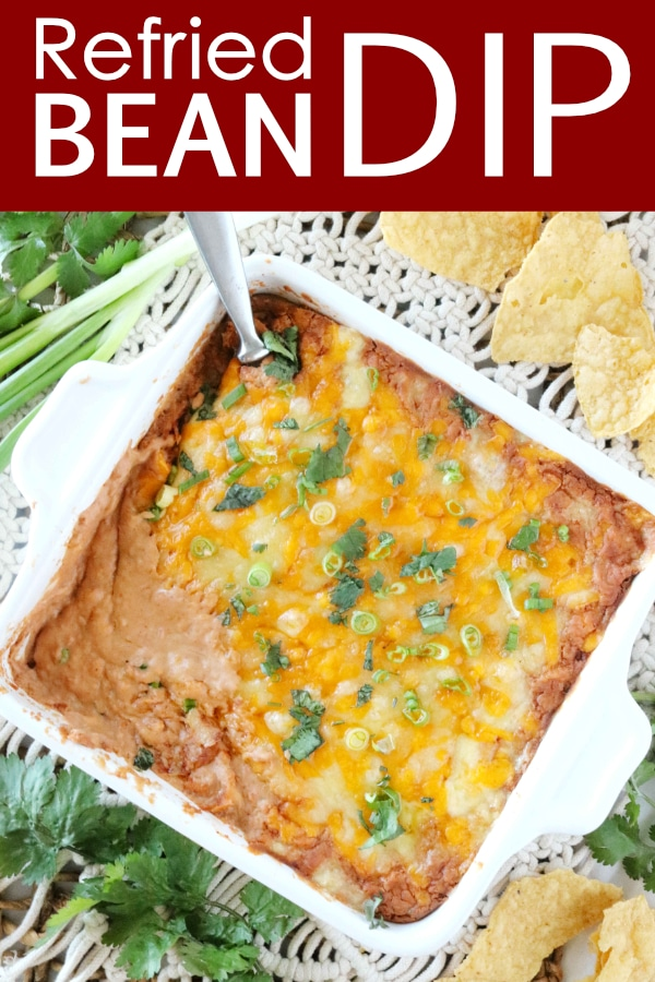 Easy Hot Refried Bean Dip with Cream Cheese