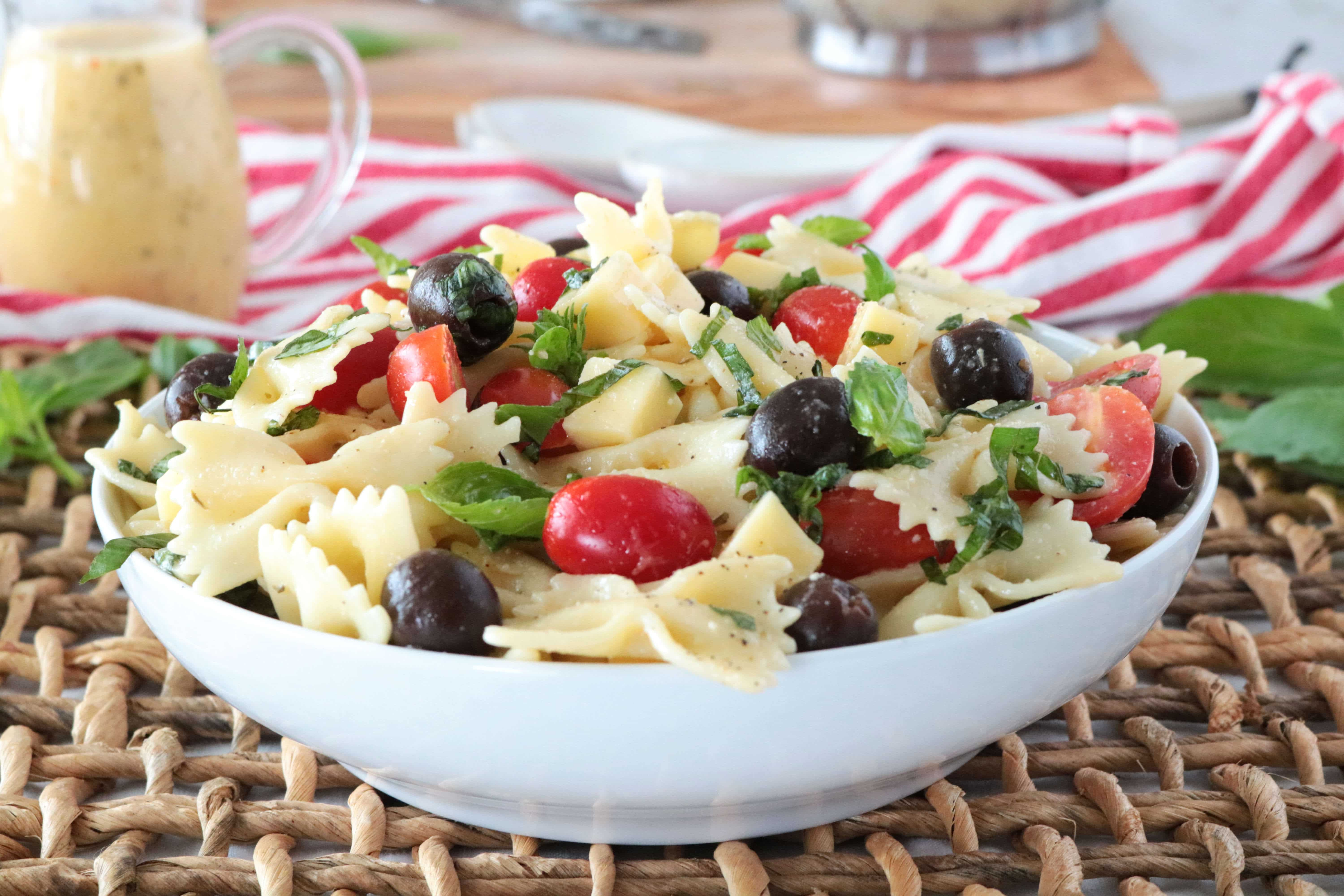 Bowtie Pasta Salad Recipe With Italian Dressing The Anthony Kitchen