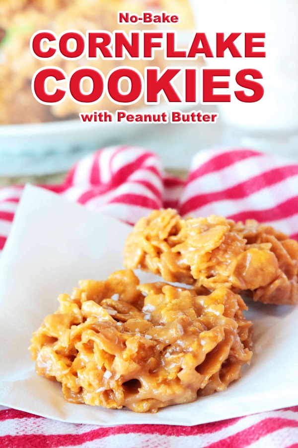 Easy Cornflake Cookies with Peanut Butter