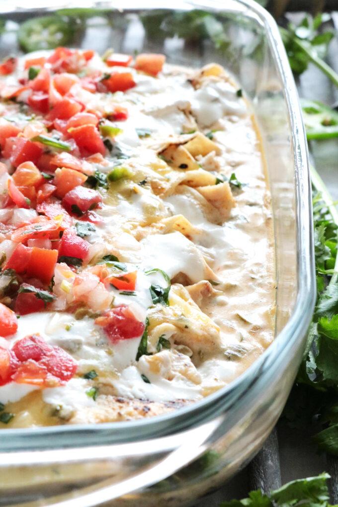 Sour Cream Chicken Enchiladas