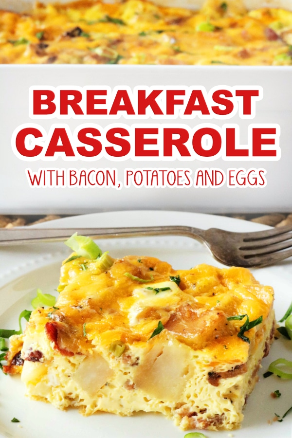 Gluten Free Breakfast Casserole with Bacon