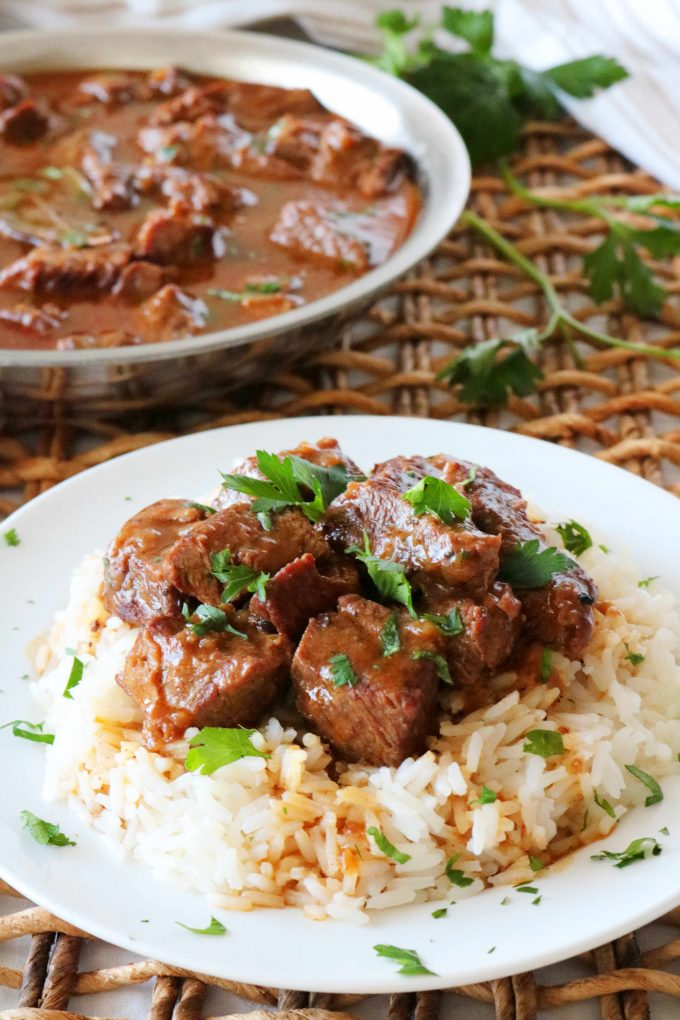 Beef Tips and Rice