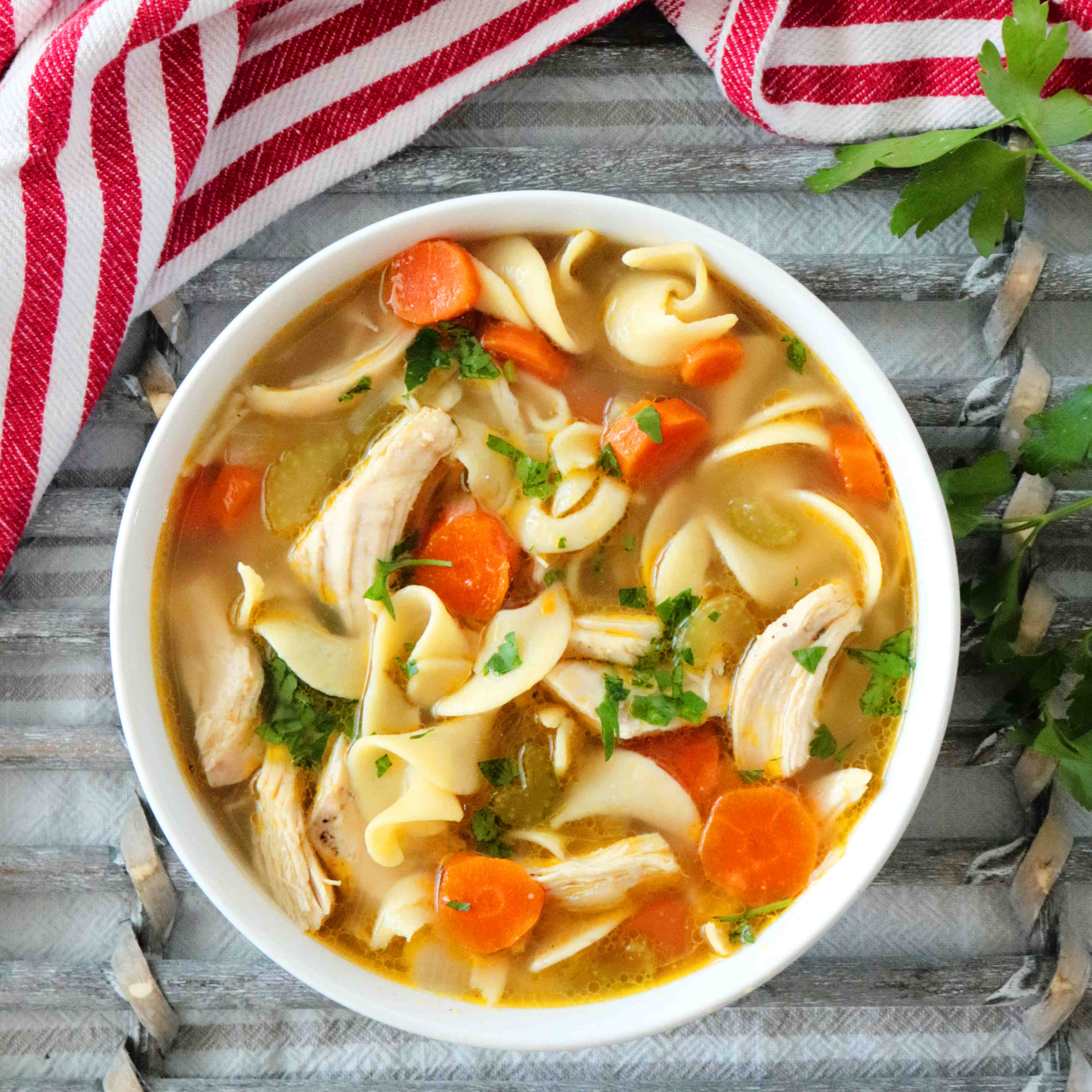 Homemade Chicken Noodle Soup Recipe The Anthony Kitchen