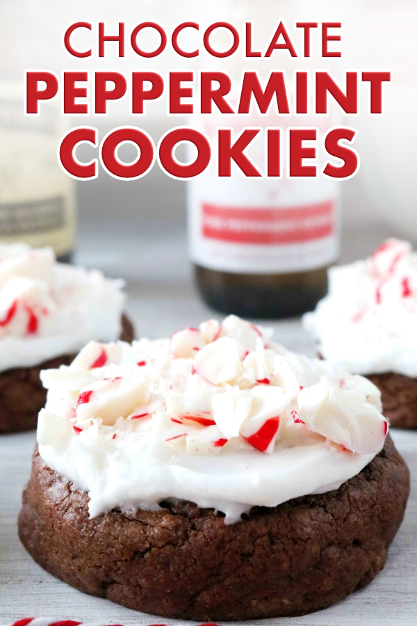 Chocolate Peppermint Cookie Image for Pinterest