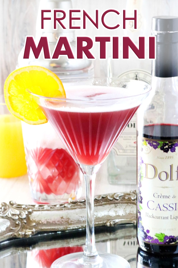 French Martini image for Pinterest.
